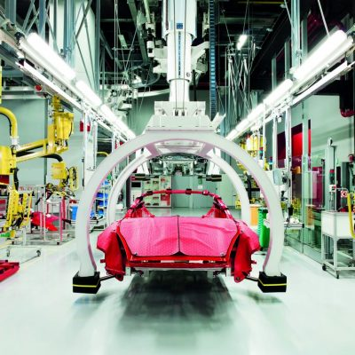 38. Present Day Manufacturing of the Ferrari California car